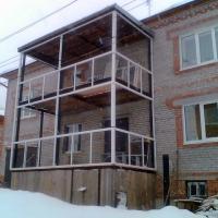 Балконы в томске, остекление балконов, реконструкция балконо.