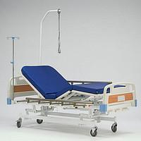 Кровать функциональная механическая RS106-В четырехсекционая, трех-функциональная (регулировка головной, ножной секций и высоты ложа)