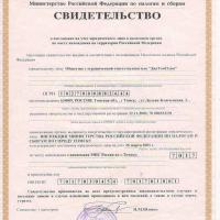 Свидетельство о постановке на учет в налоговом органе по месту нахождения (ОГРН)