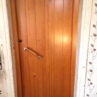 Клиновая утепленная дверь.Толщина полотна 60 мм.Вид изнутри.