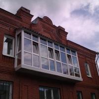 Остекление балкона профилем ПВХ. Наша работа.