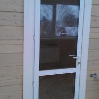 Дверь из профиля ПВХ. Наша работа