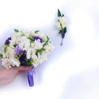 №88 Сама нежность...в букете невесты - фрезия и лизиантусы