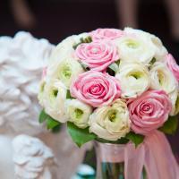 № 18 В букете невесты - Ранункулюсы и розы...Сама нежность