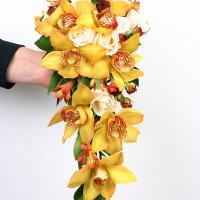 №92 Теплый,осенний букет из орхидеи