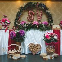 оформление зоны жениха и невесты в ресторане