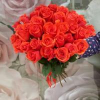 №1 Букет из роз. Розы сорт Нина - 35 шт. Ростовка 80 см. Цена: 4 550 руб.