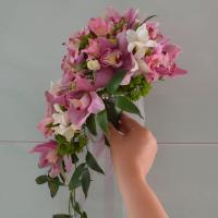 №76 Сиреневых оттенков очень много..... букет невесты из орхидеи