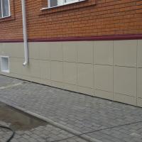 Устройство вентилируемого фасада из керамогранита п. Кисловка