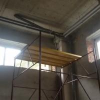 Устройство отопления в помещении площадью 1400 м2 по адресу пер. Урожайный (в процессе работ)
