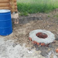 Устройство канализации и водоотведения из бани в септик в пос. Корнилово.(Окончательный этап)
