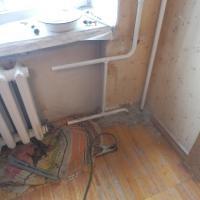 Монтаж радиатора по адресу ул. Нахимова (начало работ)