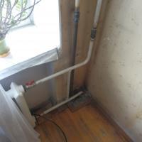 Монтаж радиатора по адресу ул. Нахимова (окончание работ)