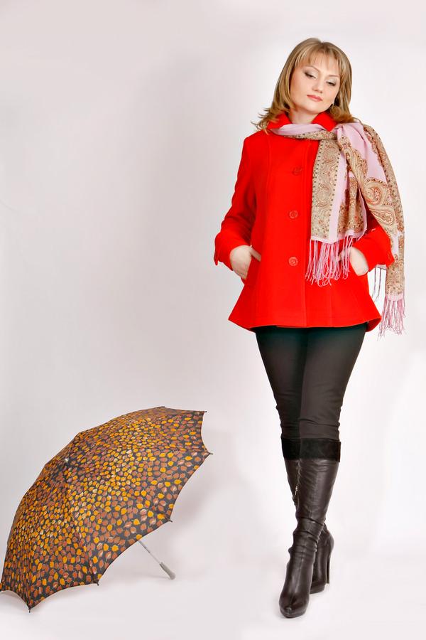 Полупальто женское Крисс Размерный ряд: 42/44/46/48 Материал:50%шерсть+50%ПЭ Цвет: Красный Цена:5200р.