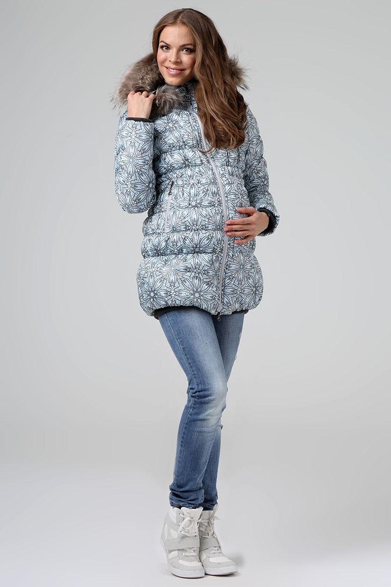 Куртка женская Размерный ряд: 48/50 Цвет: Синий Утеплитель: Термофинн+Синтепон Мех: Натуральный енот Цена:7400р.