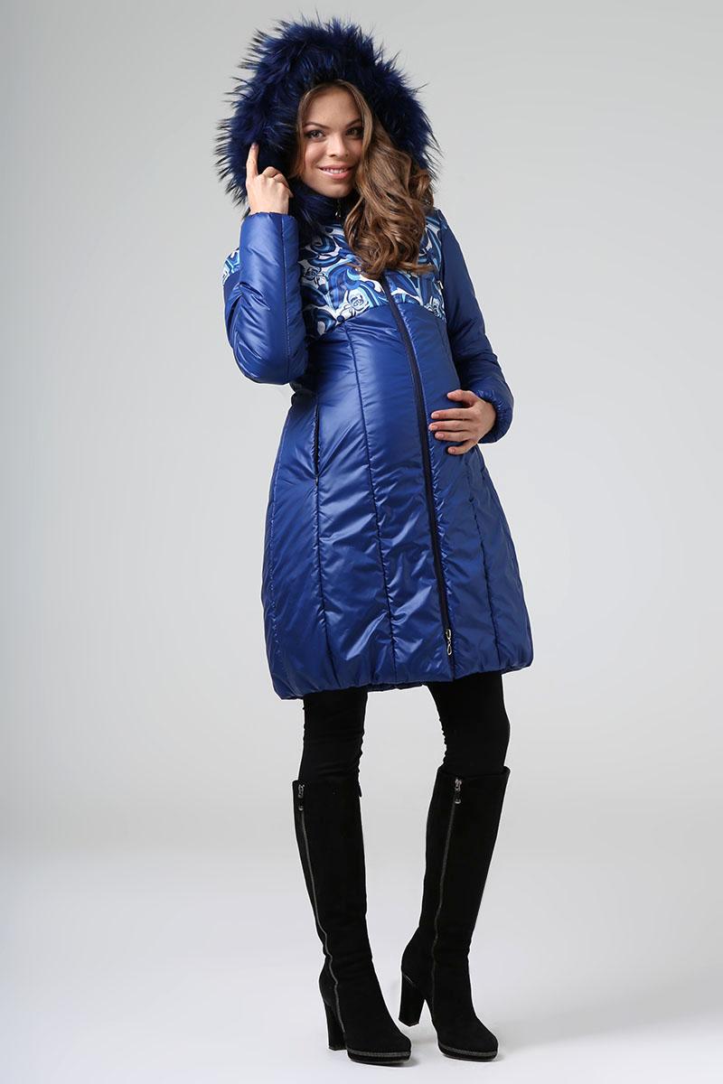 Пальто женское Размерный ряд: 42/44/48/50 Цвет: Синий Утеплитель: Термофинн+Синтепон Мех: Натуральный енот Цена:9200р.