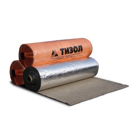 Фасовка - 5 м<sup>2</sup> / 15 м<sup>2</sup> | Материал базальтовый огнезащитный рулонный фольгированный. Толщина 13 мм.