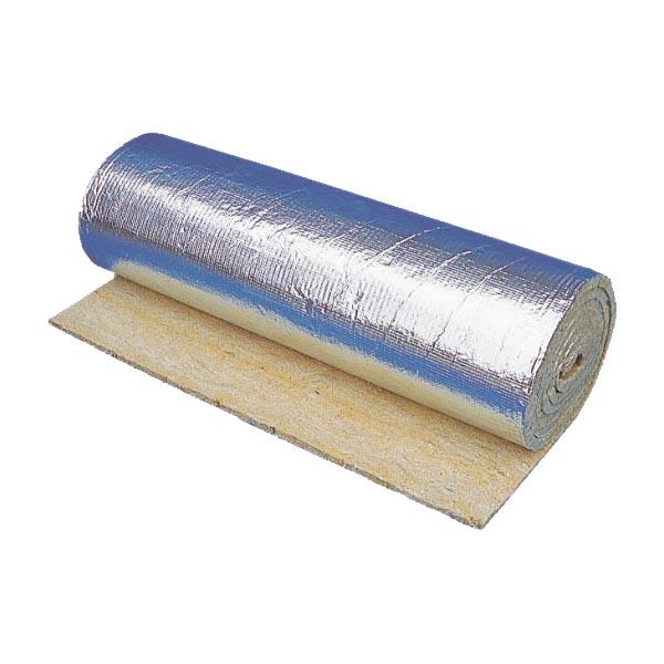 Фасовка - 12 м<sup>2</sup> | Материал базальтовый огнезащитный рулонный фольгированный. Толщина 13 мм.
