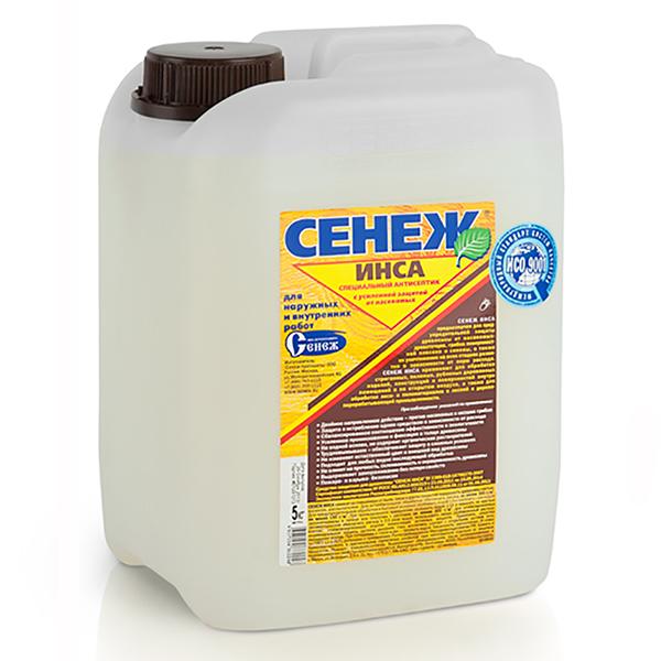 Фасовка - 5 кг / 60 кг | Пропитка-антисептик для древесины с усиленной защитой от насекомых