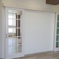 Раздвижные зеркальные полотна с покраской под белу. эмаль.