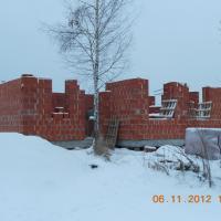 Строительство кирпичного дома, начальный этап