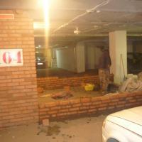 Кирпичная кладка стен гаража по адресу ул. Трифонова (Начало работ)