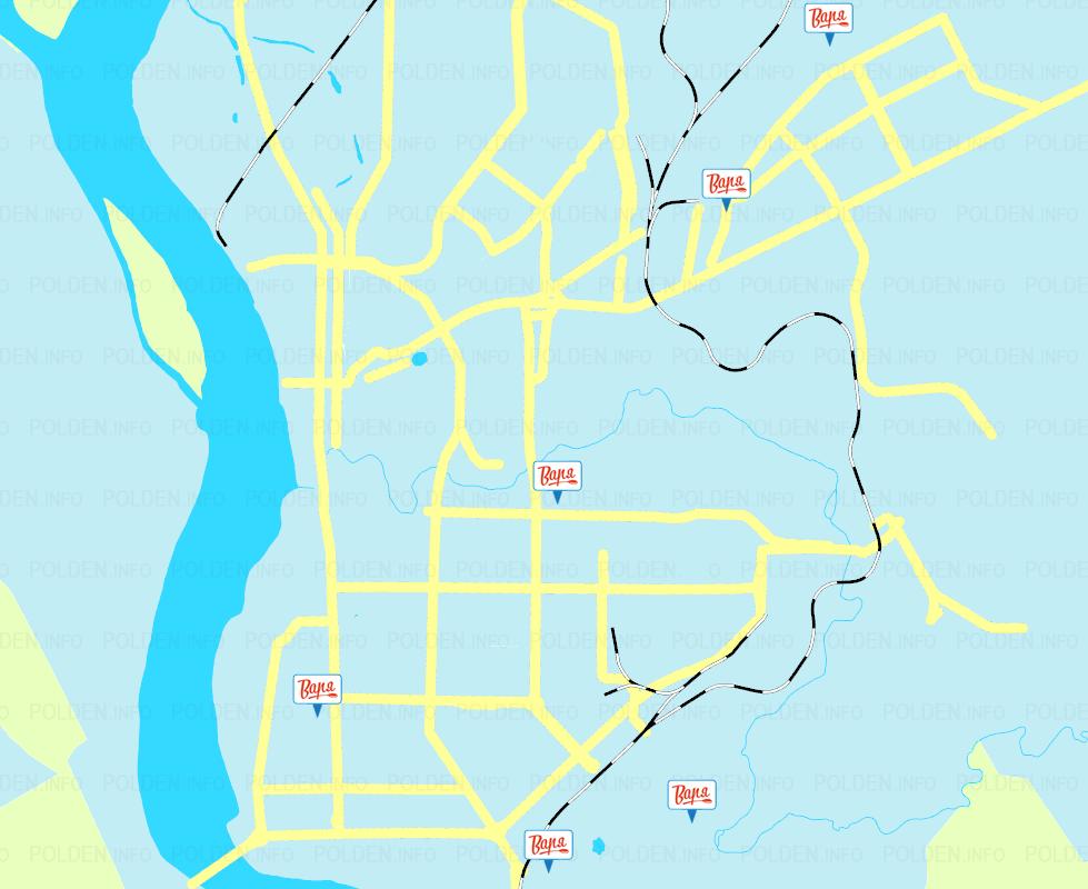 Карта сети автоматов чистой воды